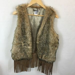 EARTHBOUND TRADING COMPANY FAUX FUR VEST XL